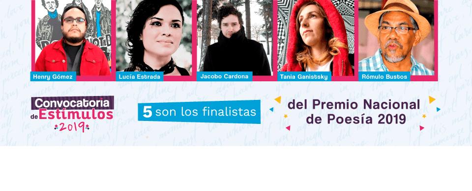 MinCultura anuncia finalistas de Premio Nacional de Poesía 2019 -