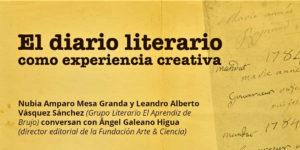 Una charla para hablar sobre el diario literario - agenda
