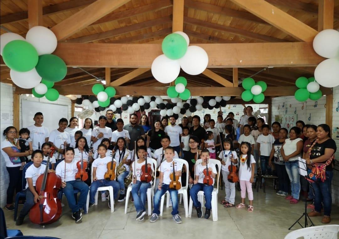 Así es la Filarmónica Emberá, la primera orquesta indígena en Colombia -
